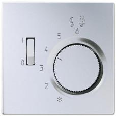 Регулятор теплого пола 10(4)А Jung LS 990 алюминий FTRAL231