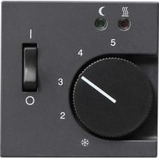 Лицевая панель Gira System 55 термостата теплого пола антрацит 149428