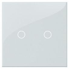 Выключатель сенсорный двухклавишный Hiper белый S1G2-01W