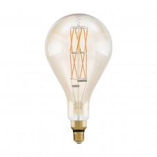 Лампа светодиодная филаментная диммируемая Eglo E27 8W 2100К янтарь 11686