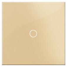 Выключатель сенсорный одноклавишный Hiper золото S1G1-01G