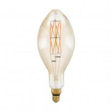 Лампа светодиодная филаментная диммируемая Eglo E27 8W 2100К янтарь 11685