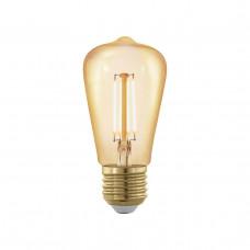 Лампа светодиодная филаментная диммируемая Eglo E27 4W 1700К золотая 11695