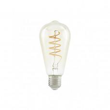 Лампа светодиодная филаментная Eglo E27 4W 2200К янтарь 11681