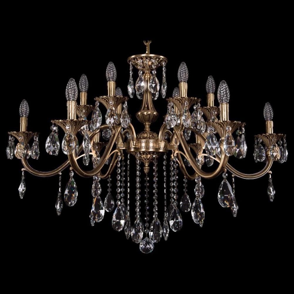 Подвесная люстра Bohemia Ivele Crystal 1703 1703/12/360/B/FP