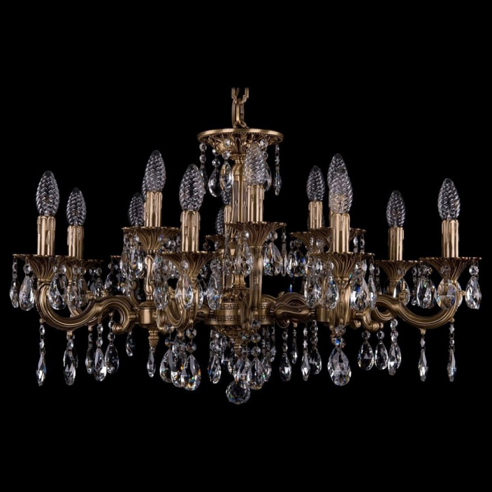 Подвесная люстра Bohemia Ivele Crystal 1717 1717/15/A/FP
