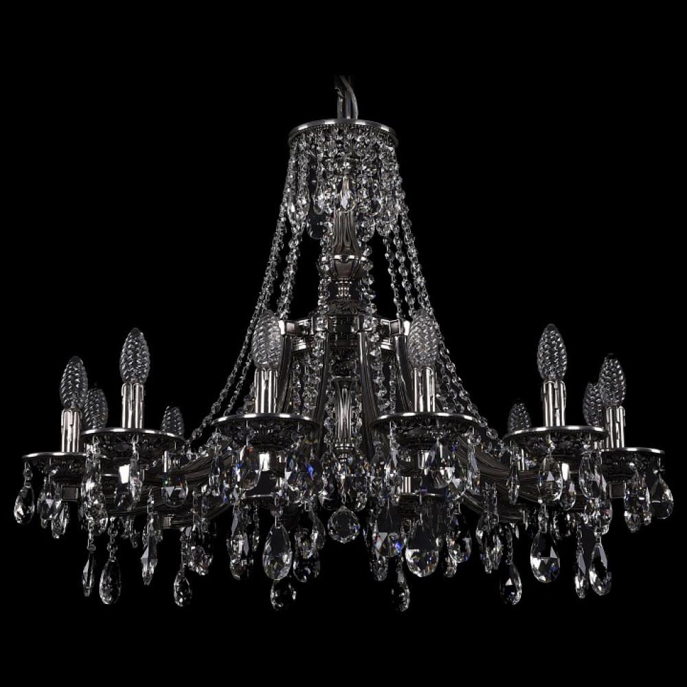 Подвесная люстра Bohemia Ivele Crystal 1771 1771/12/270/A/NB