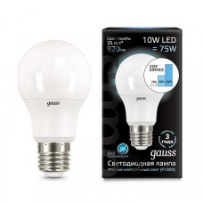 Лампа светодиодная Gauss 1025 E27 10Вт 4100K 102502210-S