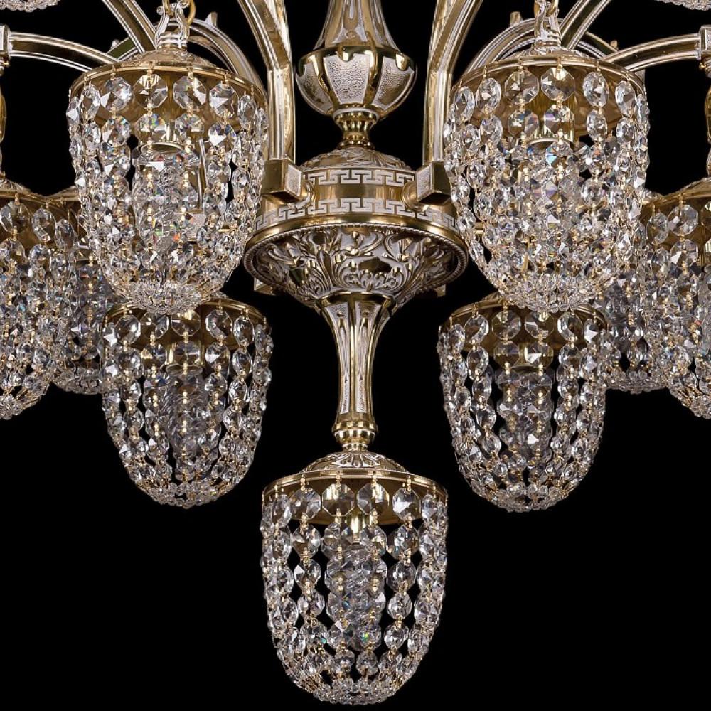Подвесная люстра Bohemia Ivele Crystal 1772 1772/12+1/342/GW