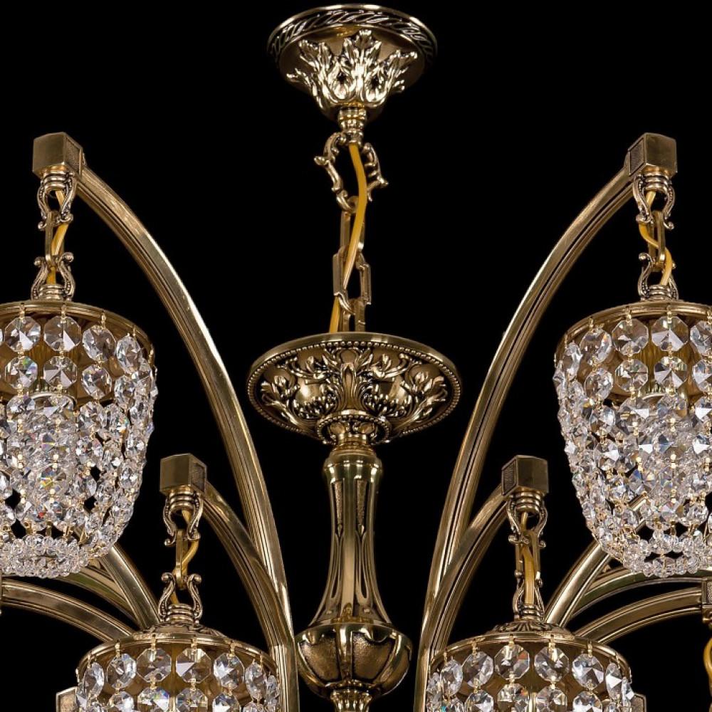 Подвесная люстра Bohemia Ivele Crystal 1772 1772/14/342/GB