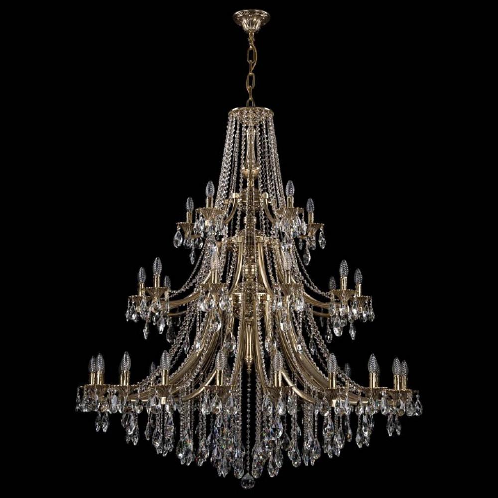 Подвесная люстра Bohemia Ivele Crystal 1771 1771/20+10+5/490/B/GB