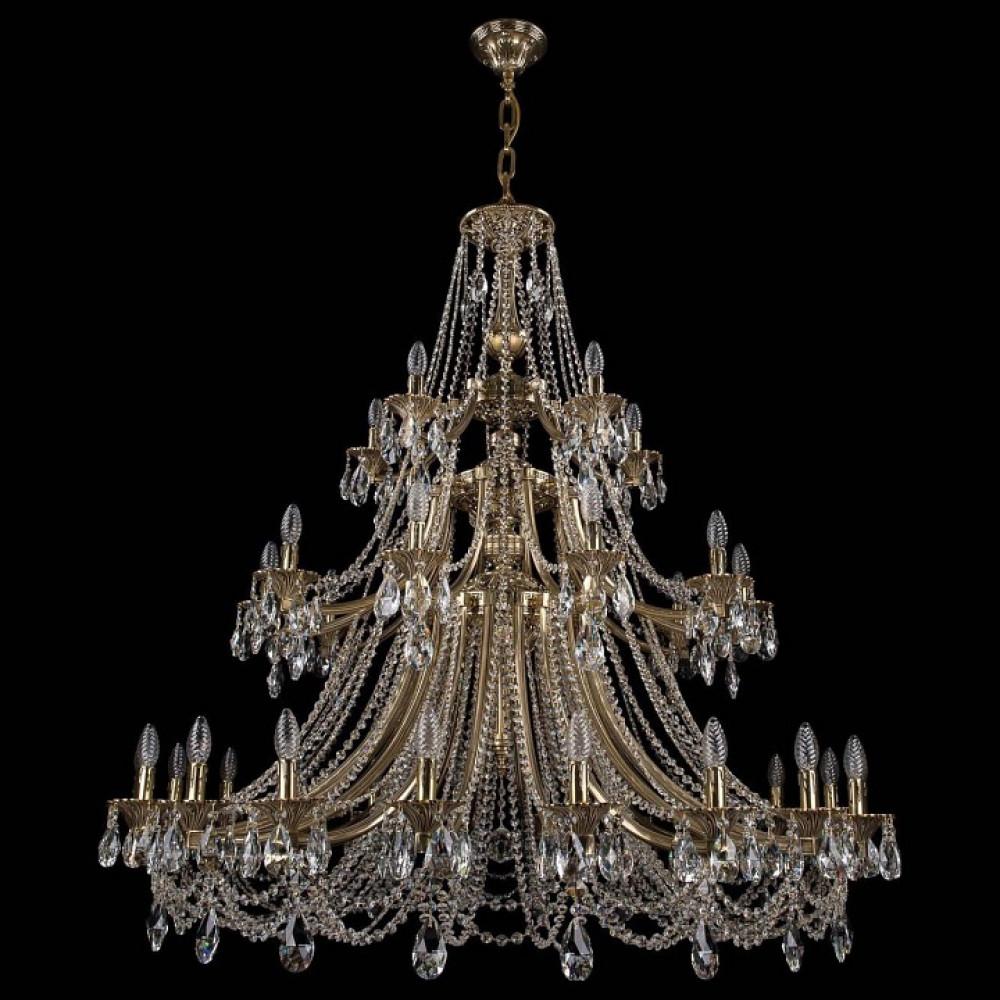 Подвесная люстра Bohemia Ivele Crystal 1771 1771/20+10+5/490/C/GB