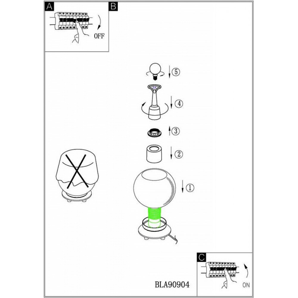 Настольная лампа декоративная BUCCINO 90904