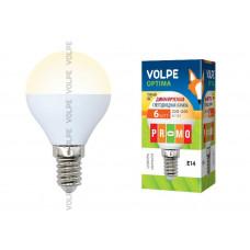 Лампа светодиодная диммируемая Vope LED-G45-6W/WW/E14/FR/DIM/O